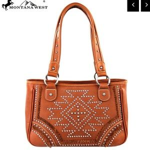 Montana West Southwestern Brown Tote